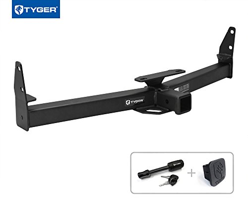 "Tyger Auto TG-HC3C0128 Class 3 Trailer Hitch Combo with 2"" Receiver Cover & Pin Lock For 04-17 Chevy Equinox/10-17 Gmc Terrain/02-09 Saturn Vue/06-09 Pontiac Torrent"
