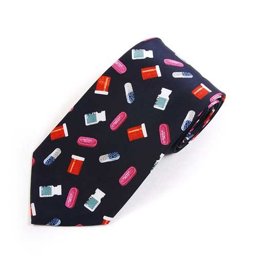 (Medications Tie - Gifts for Pharmacists, Nurses, and Doctors)