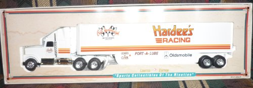 1992 Ertl Limited Edition Racing Replicas Transporters Past & Present Cale Yarborough Hardee's Racing Stock Car Transporter (Nascar Stock Car Limited Edition)