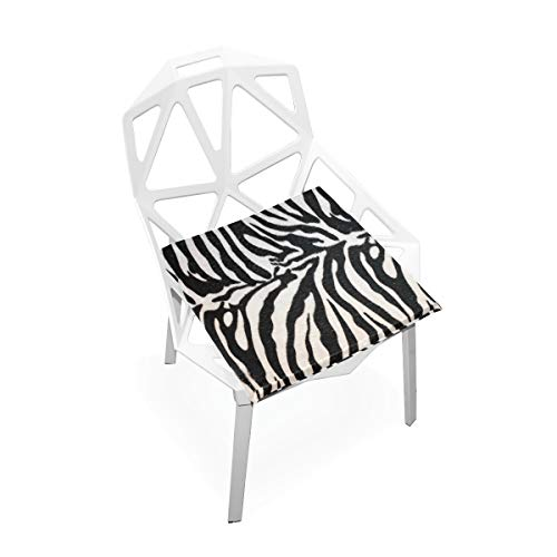 - Seat Cushion Animal Print Zebra Texture Chair Cushion Offices Butt Chair Pads Square Car Mat for Outdoors