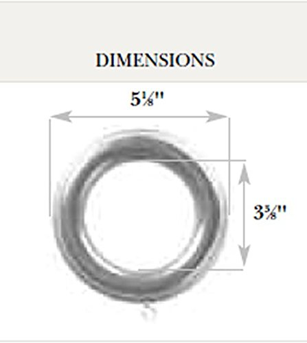 Kirsch Wood Trends Classics Rings, for 3'' pole, White (MPN# 59023025)