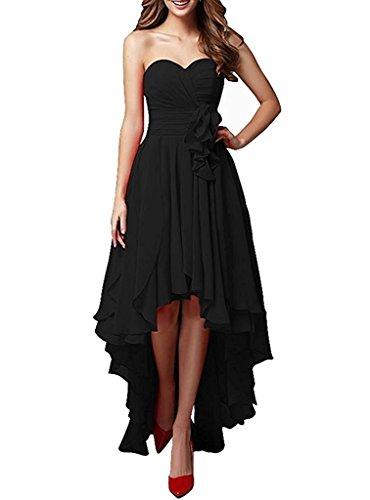 Brautjungfernkleider Langes A Schwarz Dunkel Rock Partykleider Festlichkleider Damen Linie Chiffon Blau Abendkleider La Braut mia gqxwPgYz