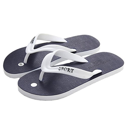 Casual Light amp; Leedford Blue Indoor Weight Slippers Outdoor Flip Color Stitching Sandals Flops g5AAqxYS