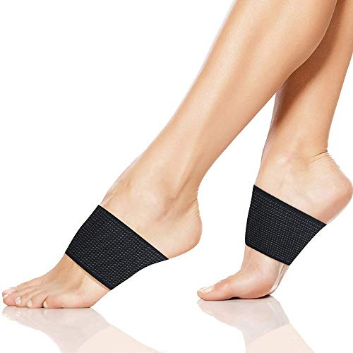 Arch Support Compression Sleeve, Plantar Fasciitis Arch Support – Compression Copper Braces/Sleeves. Recommend for Flat Feet, Heel Spurs and High Arch Pain Relief