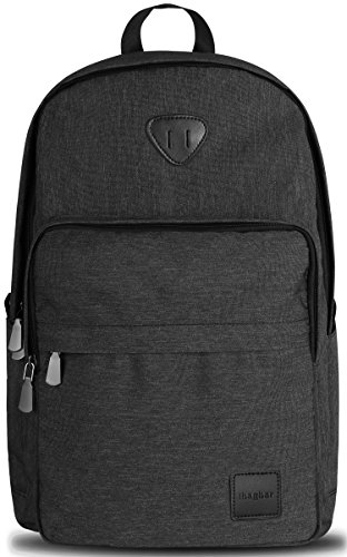 ibagbar Backpack Rucksack Laptop Bag Computer Bag Daypack Travel Bag College Bag Book Bag School Bag Hiking Bag Camping Bag Weekend Bag Black New