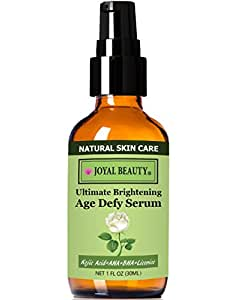 Best Glycolic Acid Serum with Salicylic Acid, Skin Lightening Kojic Acid and Licorice-Joyal Beauty Ultimate Brightening Age Defy Serum-Your Daily Skin Remedy for Clear, Smooth, and Radiant Look.