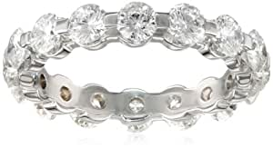 14k White Gold Shared-Prong Diamond Eternity Band (3 cttw, H-I Color, SI2 Clarity), Size 4
