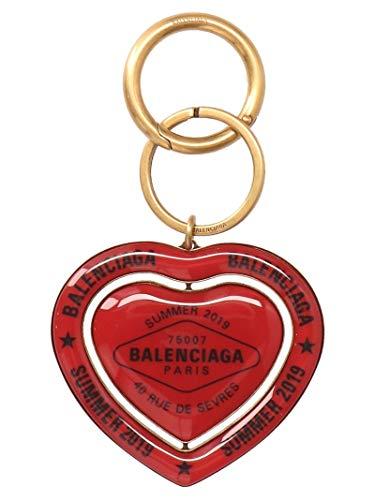 Luxury Fashion | Balenciaga Woman 569862TZ08X7078 Red Metal Key Chain | Season Outlet