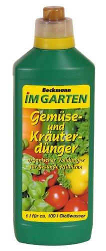 Beckmann im Garten Gemüse und Kräuterdünger 1 Liter