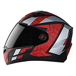 Steelbird SBA-1 Cesar Full Face Helmet in Matt Finish Helmet Fitted with Clear Visor and Extra Smoke Visor (Medium 580…