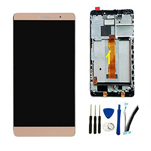 Price comparison product image LCD + TP Replacement For Huawei Mate S Display Touch Screen digitizer glass Assembly (gold W/ Frame)
