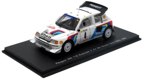 1/43 プジョー 205 T16 エボリューション2 1986年モンテカルロ・ラリー 5位 #4 ドライバー:J.Kankkunen/J.Piironen S1284