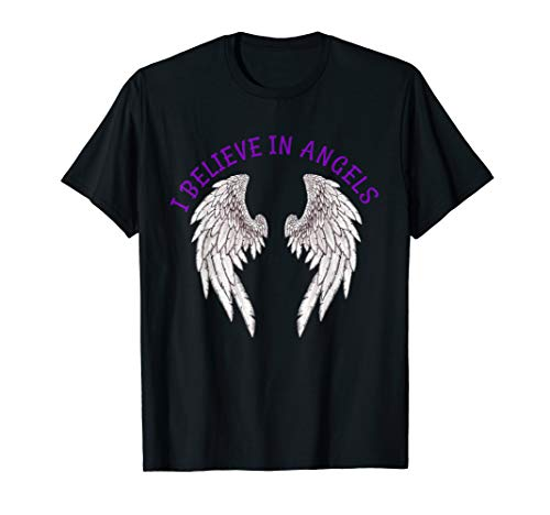 I Believe In Angels Angel Wings Tee shirt