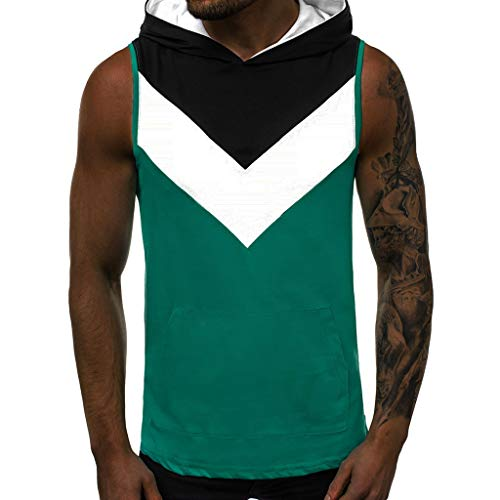 (Mens Gym Body Shaper Vest,MmNote Ployester All-Over Graphics Fun Printed Patterns Graphics Moisture Wicking Performance Vest Green)