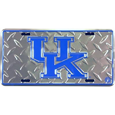 HangTime Kentucky Wildcat Diamond Embossed License Plate: Sports & Outdoors