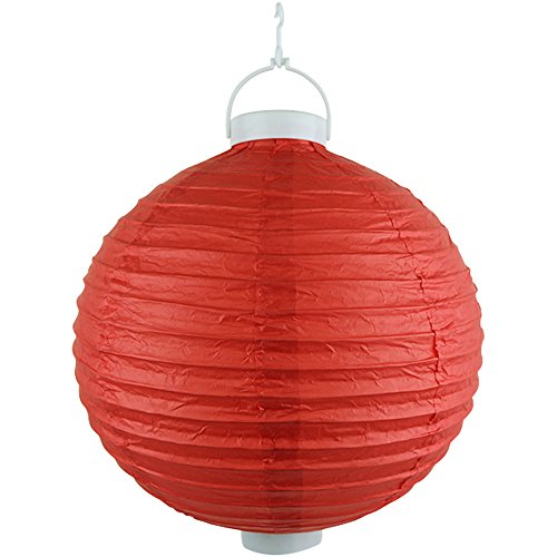 Just-Artifacts-12-Round-Battery-Powered-LED-ChineseJapanese-Decorative-Paper-Lantern-Color-Red
