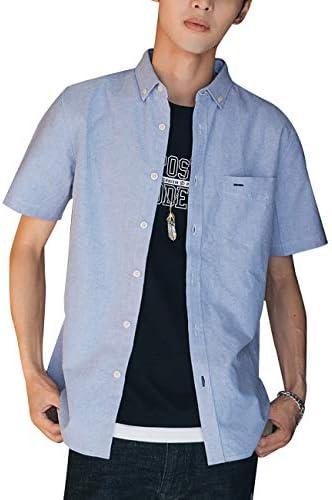 シャツ 半袖 メンズ 服 夏服 無地 オックスフォードシャツ おおきいサイズ ボタンダウン ワイシャツ コットン カジュアル シンプル スポーツ オシャレ 通学 通勤
