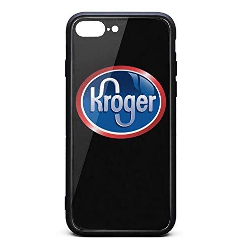 UONDLWHER Shock Absorbent Anti-Scratch Skin Series Kroger-Supermarket-Logo- iPhone7 Plus & iPhone8 Plus Case Sotf TPU Frame Hard PC Tempered Glass Back Cover Full Protective Bumper ()