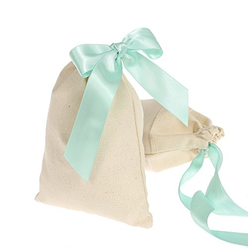 moment Unbleached Wedding Drawstring Goodies