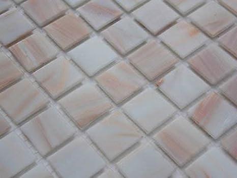 Piastrelle top shop vetro tessere di mosaico bianco oro bianco di