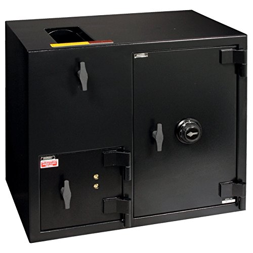 AMSEC DSX2731XX Two Compartment Immediate Depository Safe Features: Front Load / Combination and Dual Control Key Lock, Spyproof Dial For Combination Lock: Not Included