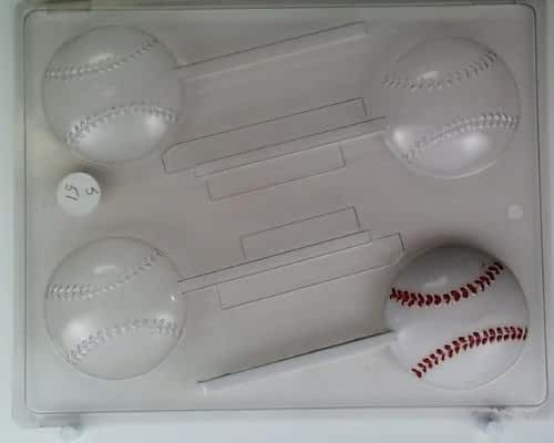 Medium size baseballs S051 Sports Chocolate Candy Mold