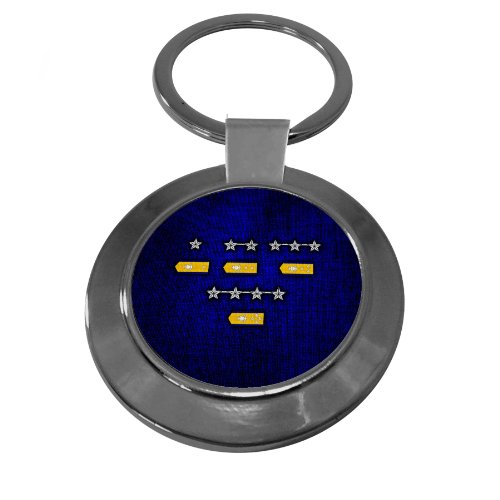Premium Key Ring with U.S. Coast Guard, officer rank insignia (admirals) Coast Guard Officer Rank