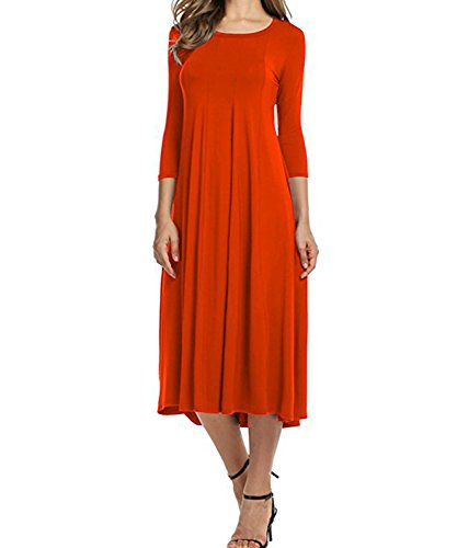 Femme Robe DEMO DEMO Robe Orange Trapze 0EqnBzIxF