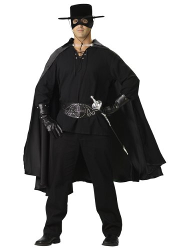 Zorro Costumes For Couples (InCharacter Costumes Bandido Adult Set Costume, Black,)