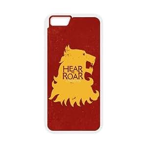 Juego de Tronos Hear Me funda de plástico Rugido Lannister1 iPhone 6S 4.7 pulgadas del teléfono celular de funda funda caja del teléfono celular blanco cubrir ALILIZHIA07941