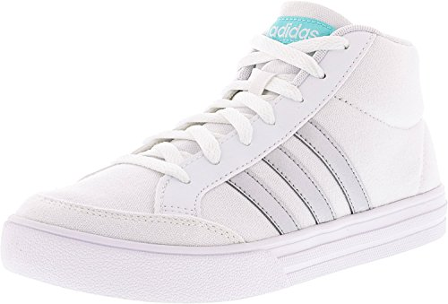 adidas Women's Vs Set Mid Ankle-High Fashion Sneaker White / Silver / Aqua shopping online cheap price cheap sale in China cheap for sale clearance huge surprise latest online 1FO0Tp4IH1