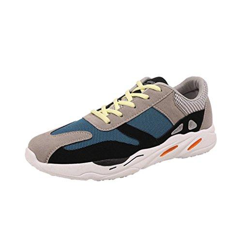 Sneakers In Casual Ginnastica Da Stringate Calzature Momola Corsa Scarpe Boys Patchwork Uomo Blu Sportive Fitness Traspirante Mesh Teen 0pvpq