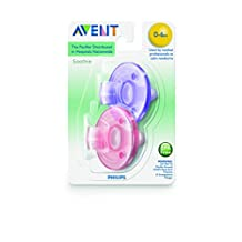 Philips Avent Soothie Pacifier,  0-3 months, Pink/Purple, SCF190/02