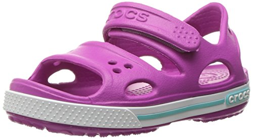 Crocs Kid's Boys and Girls Crocband II Sandal | Pre School Vibrant Violet/White, 7 M US Toddler]()