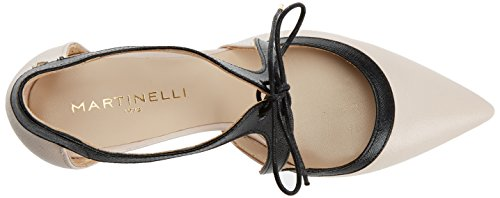 Martinelli Women's Navia 1271-a835s Closed Toe Heels, Black Bone (Nude)