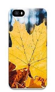 iPhone 5 5S Case Golden Autumn Leaves 3D Custom iPhone 5 5S Case Cover