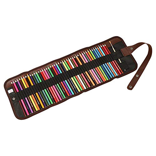 (36colors Colored Pensils, Assorted Colors Pencils with Roll Canvas Bag, Colored Pencils for Children Adults ditional)