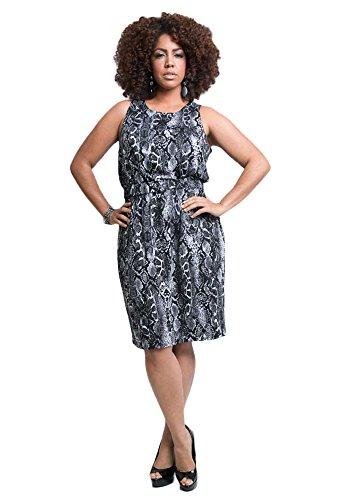 TD New York Curvy Women's Plus Size Sophia Dress in Python Print, size 1X