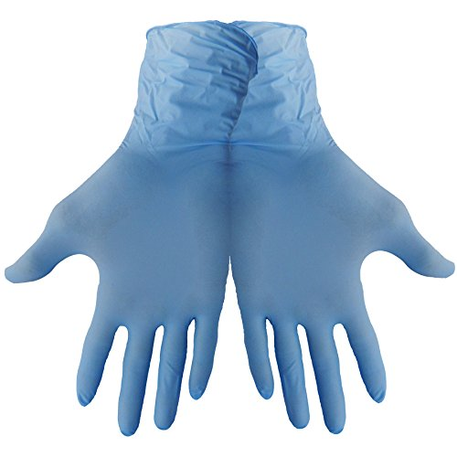 Global Glove 705PF Nitrile Glove, Disposable, Powder Free, 5 mils Thick, 9'' Length, Medium (Case of 1000) by Global Glove