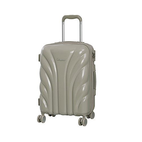 Cobblestone Cascade - it luggage Cascade 8 Wheel Hard Shell Single Expander Cabin With Tsa Lock Suitcase, 54 cm, 50 L, Cobblestone