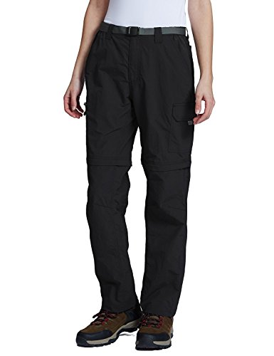 Upf Water - Baleaf Women's Quick Dry Convertible Cargo Pants Water Repellent UPF 50+ Black Size M