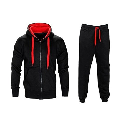Cthery Mens Tracksuit Set Cotton Hoodie Sweatshirt Top & Bottom Sweatpant Tracksuit