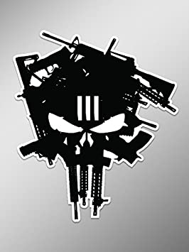 Ni928 3 percenter machine gun punisher skull decal sticker 55 ni928 3 percenter machine gun punisher skull decal sticker 55 inches by 45 inches premium publicscrutiny Gallery