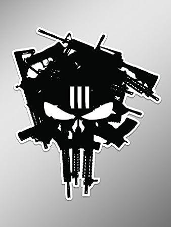 Amazon ni928 3 percenter machine gun punisher skull decal ni928 3 percenter machine gun punisher skull decal sticker 55 inches by 45 inches premium publicscrutiny Gallery