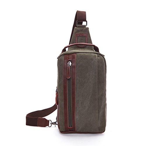 Wewod pecho Paquete/paquetes/hombre bolso de la lona de la moda retro de la coreano 19 x 31 x 9 cm (L*H*W) Verde