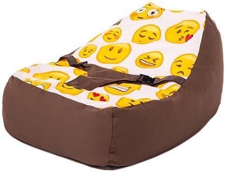 Ready Steady Bed® Emoji diseño de chica bebé puf tumbona con arnés ...