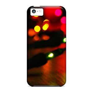 Iphone 5c Case Cover - Slim Fit Tpu Protector Shock Absorbent Case (christmas Lights)