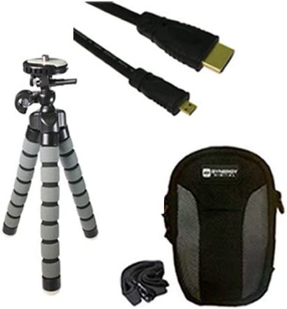 HDMI6FMC AV /& HDMI Cable SDC-22 Case Nikon 1 V3 Mirrorless Digital Camera Accessory Kit Includes GP-10 Tripod