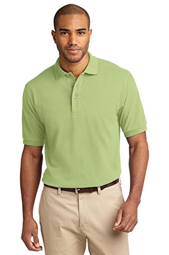 Port Authority Men's Pique Knit Polo XL (Mens 100 Pique Polo)
