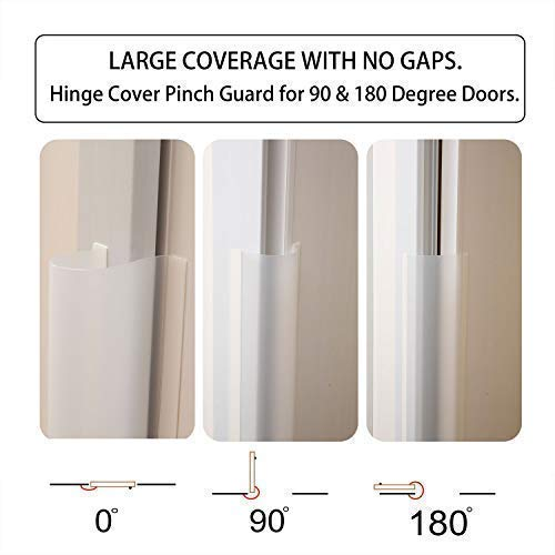 AILUOQI Door Shield Finger Pinch Guard for Baby Proofing, Kids, Pets, Hinge Cover Pinch Guard for 90 & 180 Degree Doors & Baby Gate. Roll-up Design 47.2''H, 6.7''W. 2 Pieces Set by I-ROCKET (Image #3)